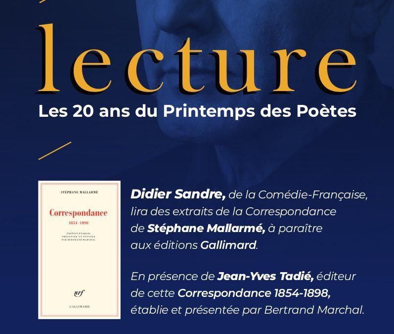 Mardi 12 mars 2019 à 19h – Les 20 ans du Printemps des Poètes