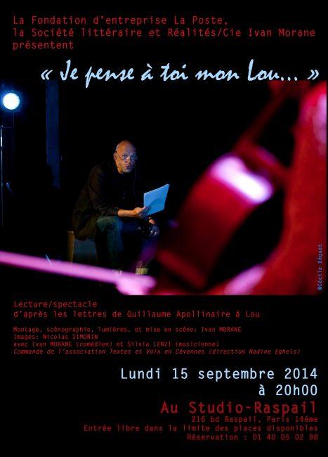 15 sept. 2014 «Je pense à toi mon Lou…»