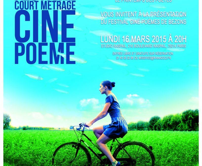 16 mars 2015 – Festival court métrage Ciné Poème