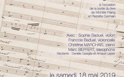 Samedi 18 mai 2019 – Concert