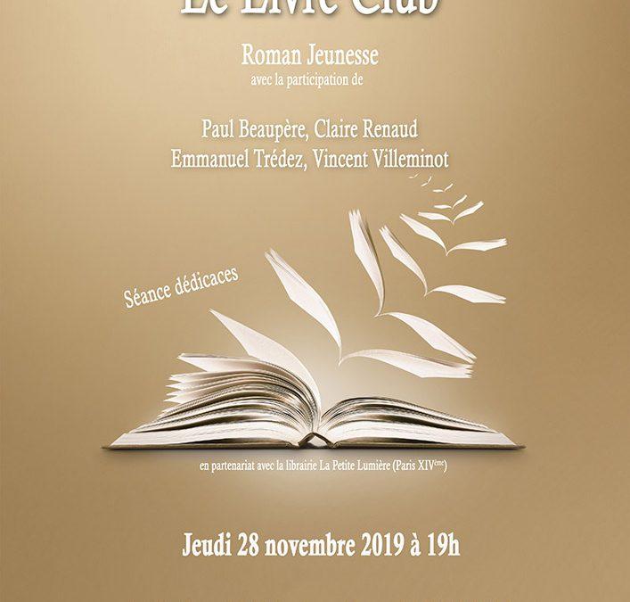 Jeudi 28 novembre 2019 : Livre Club