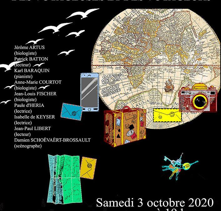 Samedi 3 octobre 2020 : Soirée scientifique et littéraire