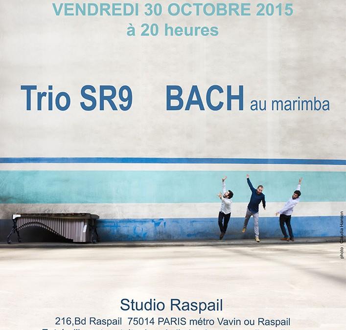 30 octobre 2015 – Trio SR9 BACH au marimba