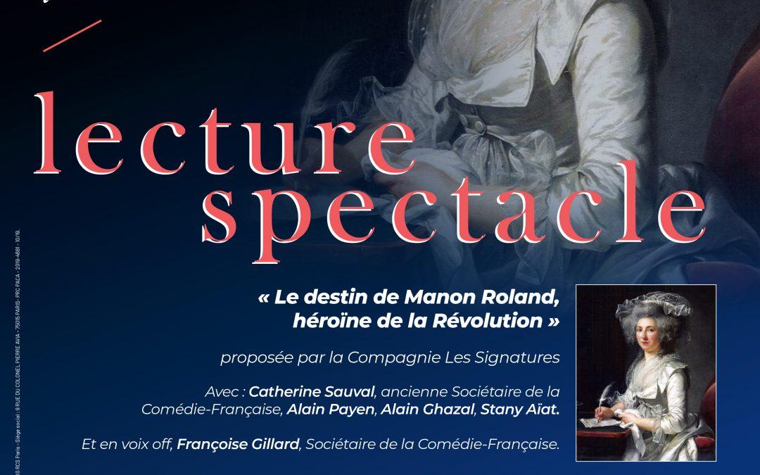 Mardi 19 novembre 2019 : Lecture spectacle