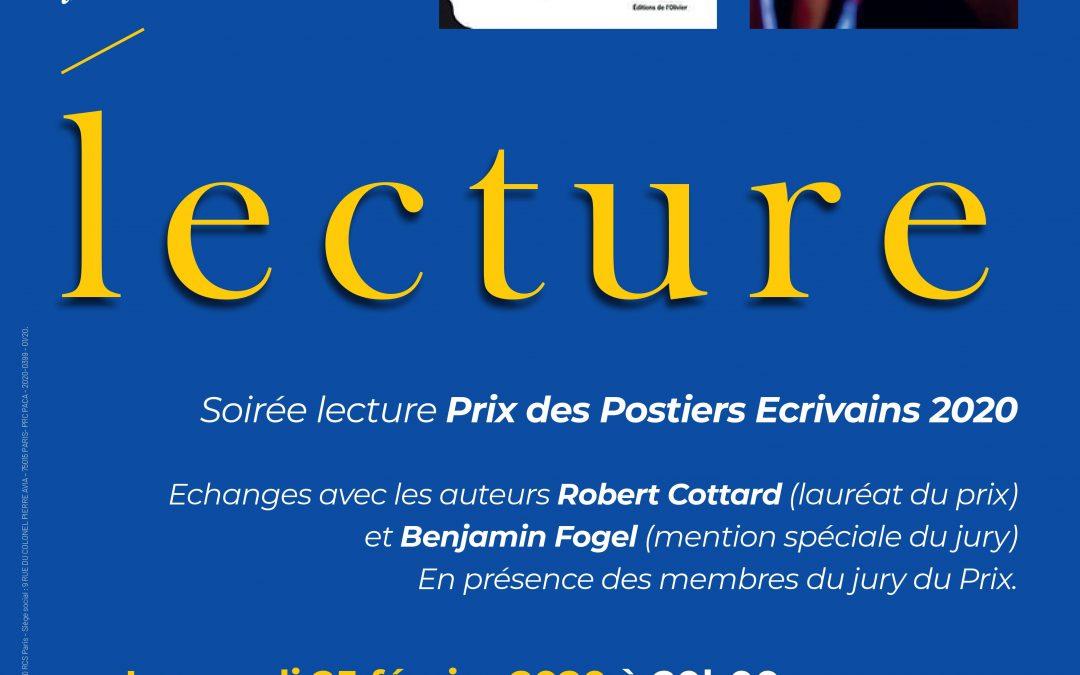 Mardi 25 février : Prix des Postiers Écrivains