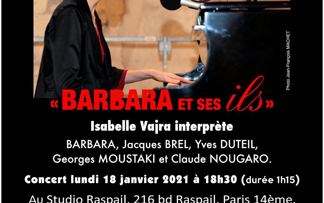 Lundi 18 janvier 2021 : Barbara et ses ils