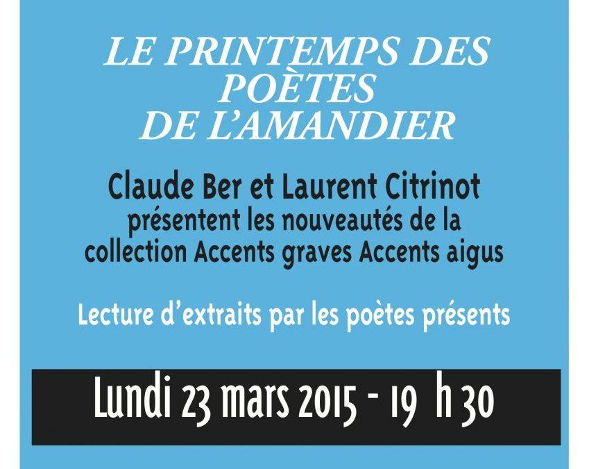 23 mars 2015 – Le printemps des poètes