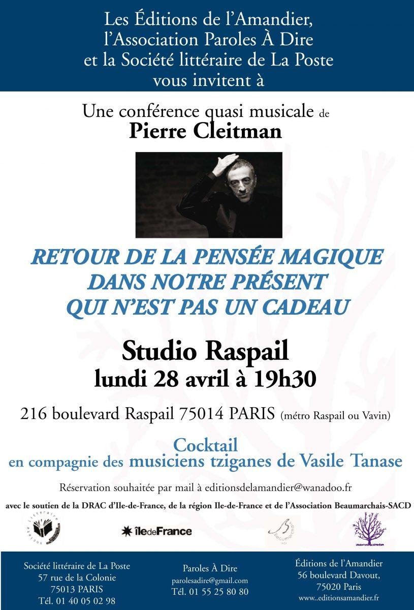 Une conférence musicale de Pierre Cleitman le 28 avril 2014