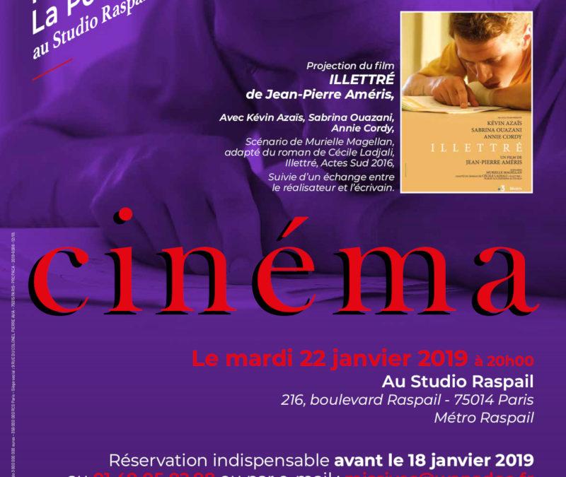 """Mardi 22 janvier 2019 à 20h – Projection débat du Film """"Illétré"""" de Jean-Pierre Améris"""