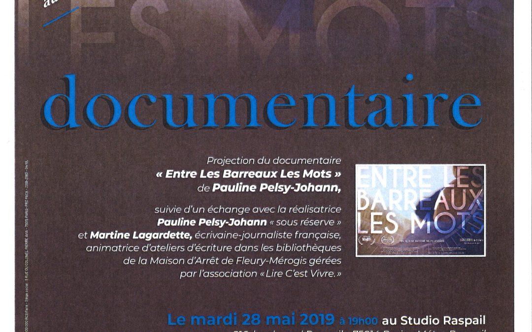 Mardi 28 mai 2019 – Projection