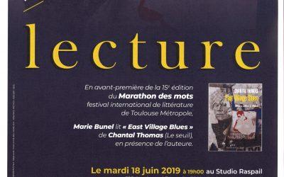 Mardi 18 juin 2019 : Lecture