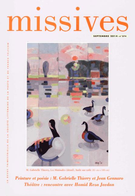 Missives n° 274 – Septembre 2014
