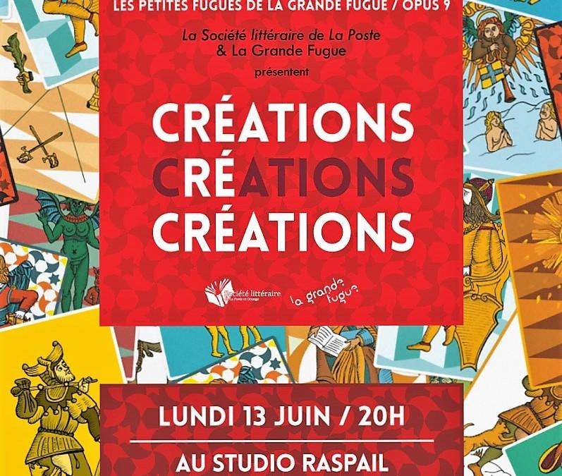 13 juin 2016  CRÉATIONS CRÉATIONS CRÉATIONS La grande fugue / opus 9