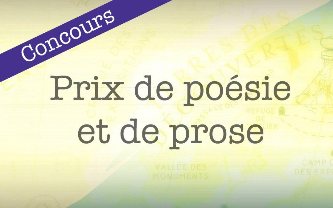 Prix de poésie et de prose 2019